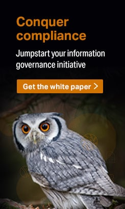 Conquer compliance: Jumpstart your information governance initiative Get the white paper
