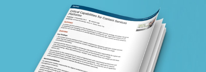 What are the top 5 content services capabilities?<br>Read the Gartner Report