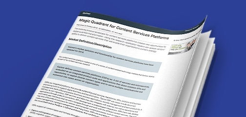 Gartner Magic Quadrant for Content Services Platforms report 2018